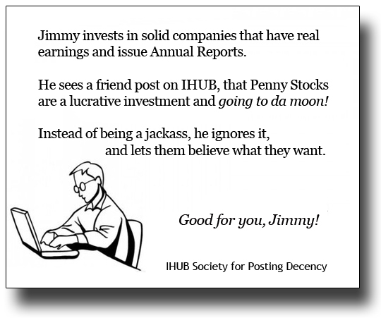 Penny Stock Quotes Real Time: The Question And Answer Board (IHUB): Correct, Sir! The